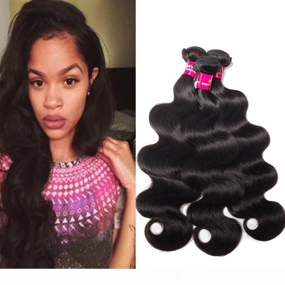 8A Remy Brazilian Virgin Human Hair Extensions Body Wave Straight Loose Waave Kinky Curly Deep Wave 100% Unprocessed Remy Human Hair Weaves