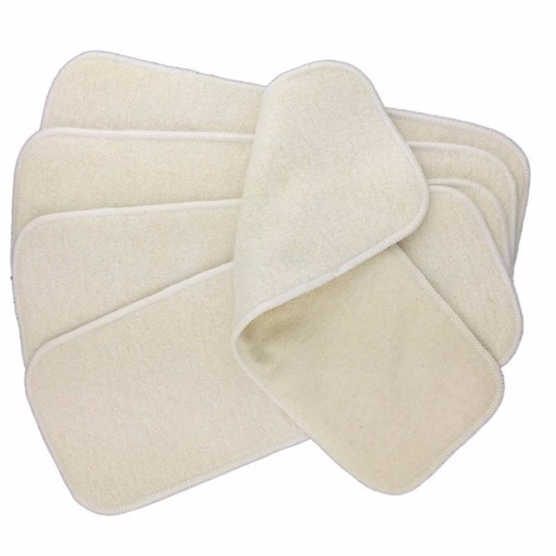 Insertos de fralda de algodão de cânhamo para bebê reutilizável fraldas de pano nappiers 4 camadas grandes 36 * 14cm 200 pçs / lote
