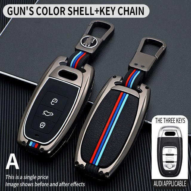 Car Key Case Cover Key Bag For Audi a1 a3 8v a4 b8 b9 a6 a5 c7 q3 q5 q7 tt Auto Accessories Holder Shell Keychain Protect Set