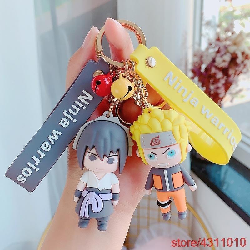 Anime Naruto Keychain Carino Uzumaki Naruto Portachiavi per le donne Uomini Itachi Uchiha Portachiavi Portachiavi Charm Bag Pendant Car Portachiavi Anelli Y0306