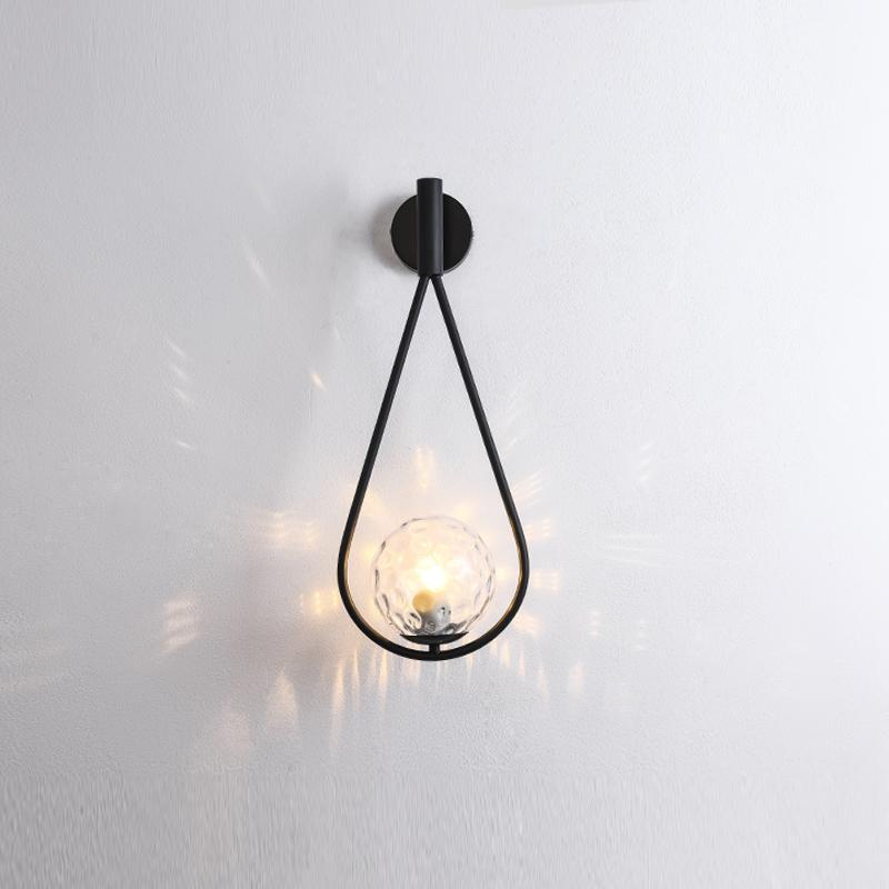 Lámparas de pared LED de estilo nórdico dormitorio de noche luces de pared sala de estar cocina luz corredor decoración superficie iluminación