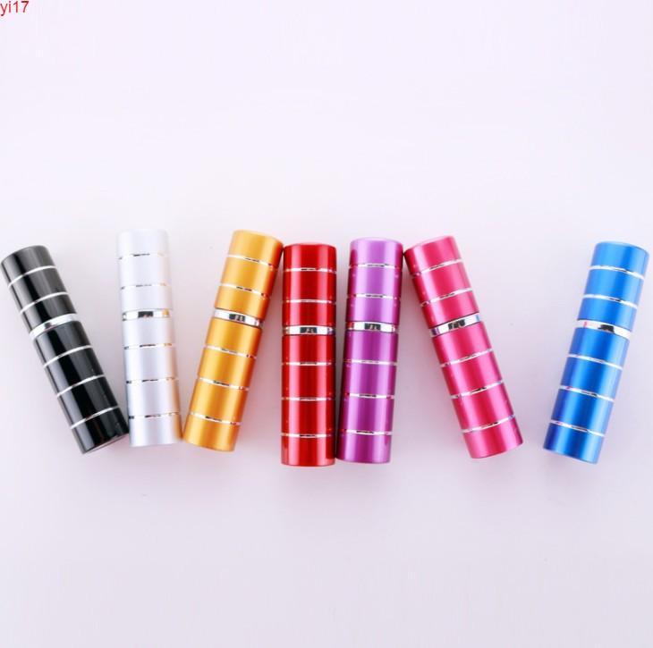 Nouveau 5 ml rechargeable mini parfum de pulvérisation de pulvérisateur de pulvérisation d'aluminium Atomiseur portable Voyage Cosmétique Conteneur BottleHigh Qualtitude