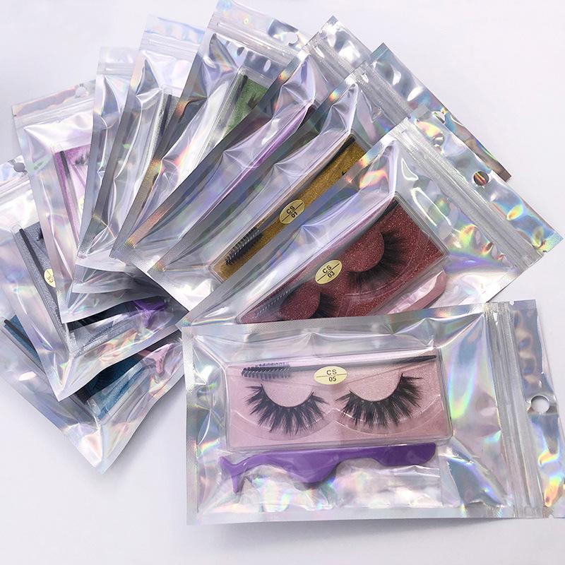 Hot Styles Natural False Eyelashes Soft Light Fake 3D Mink Eyelash Glitter Eyelash Extension Mink Lashes With Eyelash Tweezer Brush Makeup