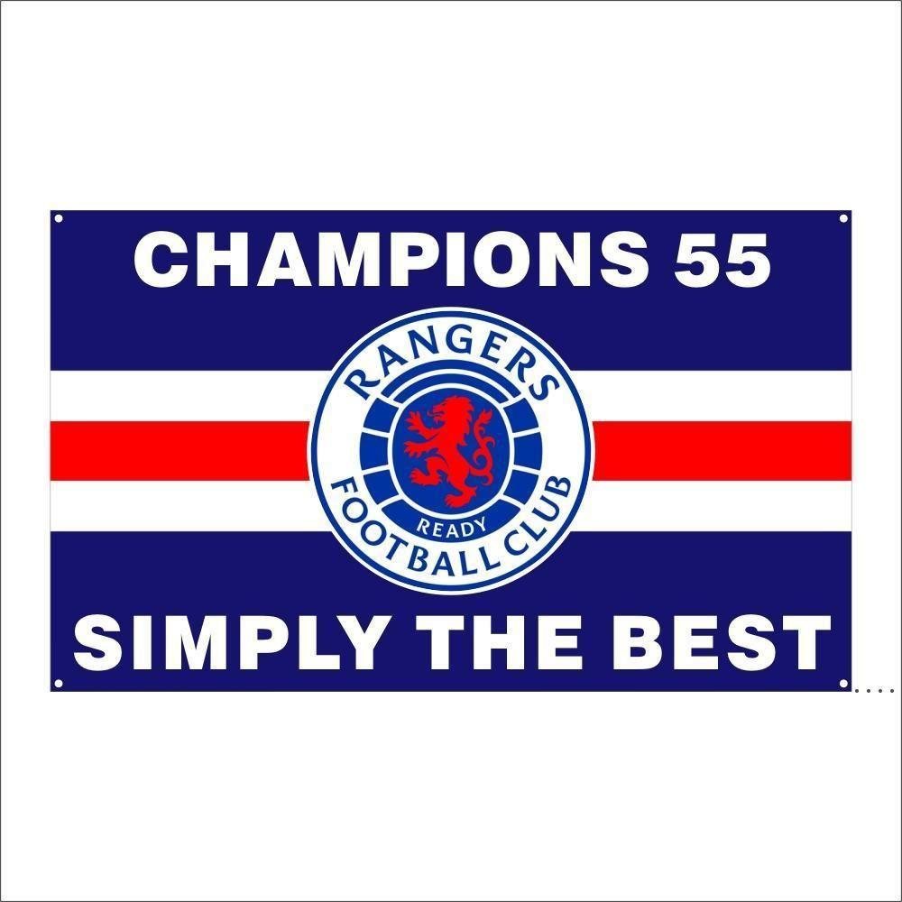 Kostenloser DHL-Versand Kundenspezifische Flagge 3X5FT / 90x150cm Ranger Fußballverein FC Loyal Champions 55 Flaggen Banner für Outdoor Sport Owd5394