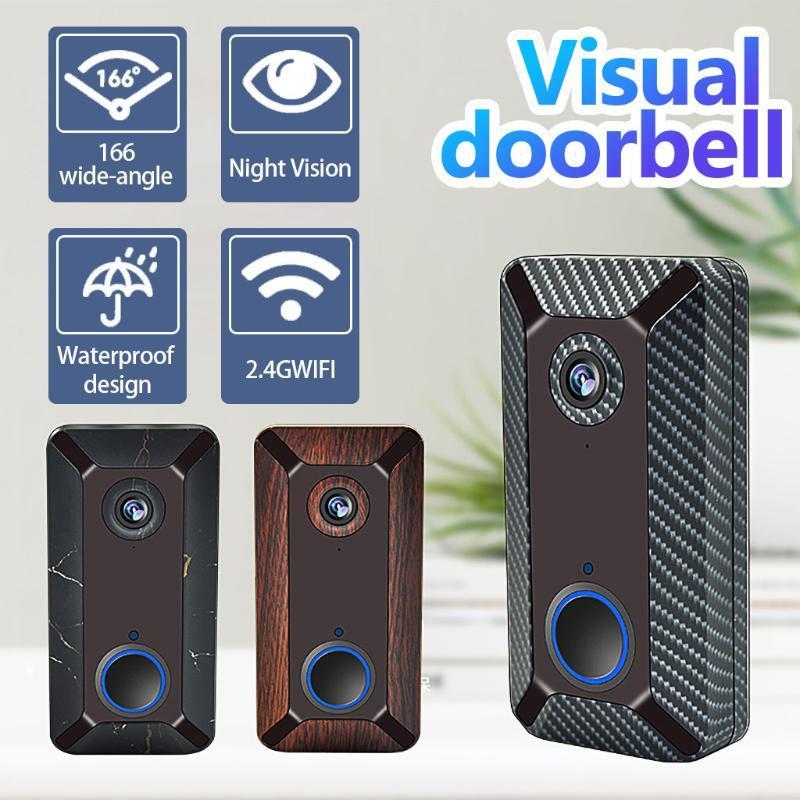 V6 Intelligent WiFi Visual Soorbell Wireless HD HD Home Monitoring Home Talk Talk Voice Intercom Vidéo Anti-vol Surveillance Sante