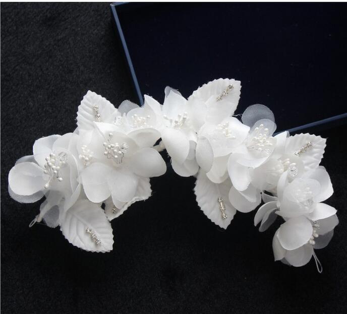 Elegante ragazza morbida perla breve sposa barrette accessorio per capelli da sposa velo velo da sposa velo accessori da sposa sposa decorazione dei capelli