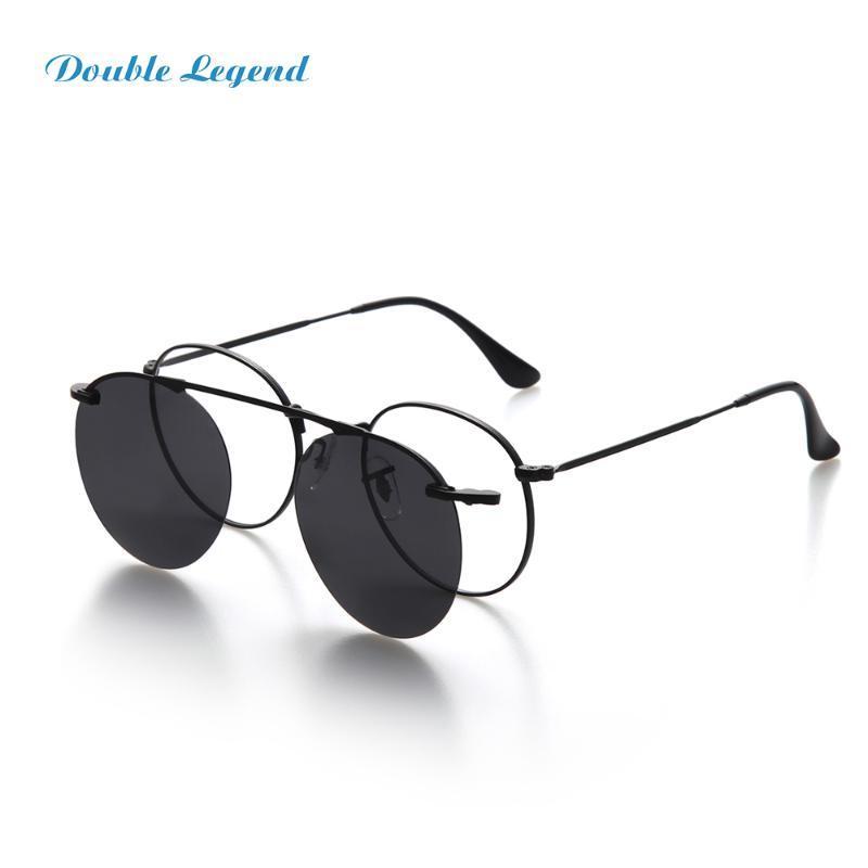 Солнцезащитные очки ретро поляризованный магнитный клип на солнцезащитные очки женщин мужчины круглые металлические рамки очки gafas deol sol mujer uv400