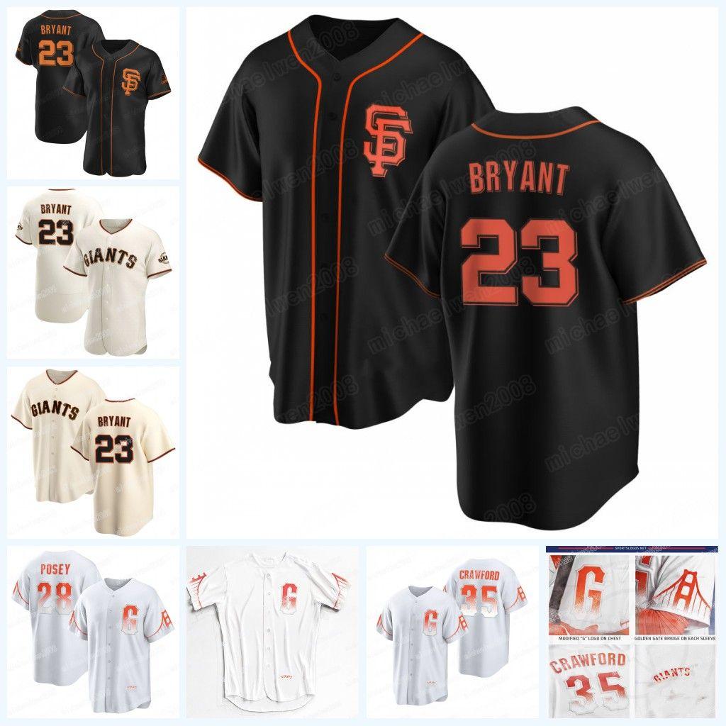 Kris Bryant Giants Buster Posey 2021 Ciudad Conecte San Francisco Jersey Brandon Crawford Mike Yastrzemski Chadwick Tromp Donovan Solano Alex Wood