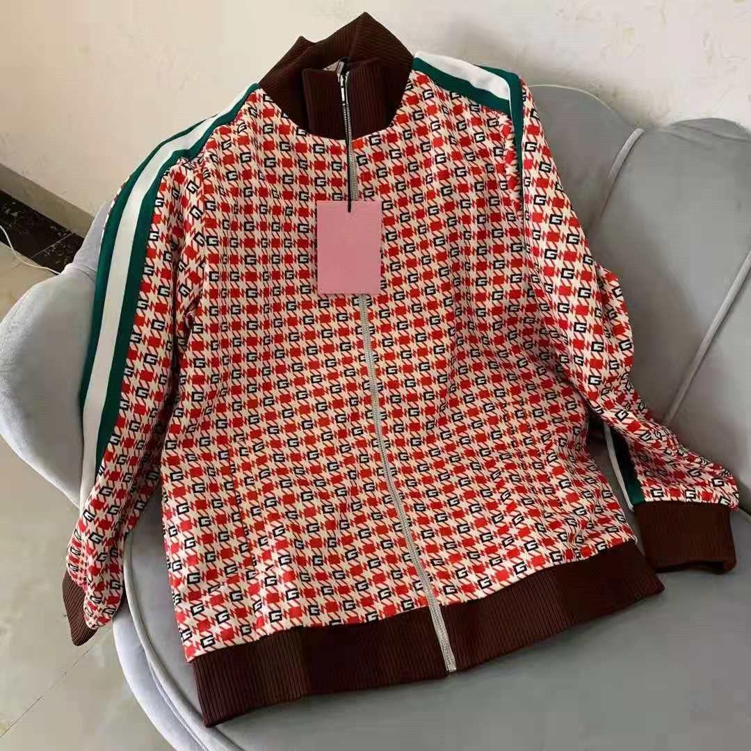 Nouvelles femmes Jersey Jersey Pantalon Pantalon Cordon Zip Géométrique Jacquard Jacquard Jacket Designer Lady Sportswear Stripes Coupes de tricot de côtelette