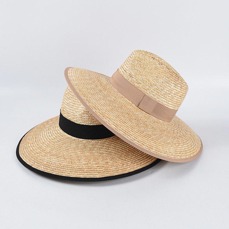 2020 Nueva moda disquete sombrero de paja upf 50+ moderno de playa ajustable sol sombrero jazz verano sombreros ancho alza kuntucky derby hat upf50 + c0306