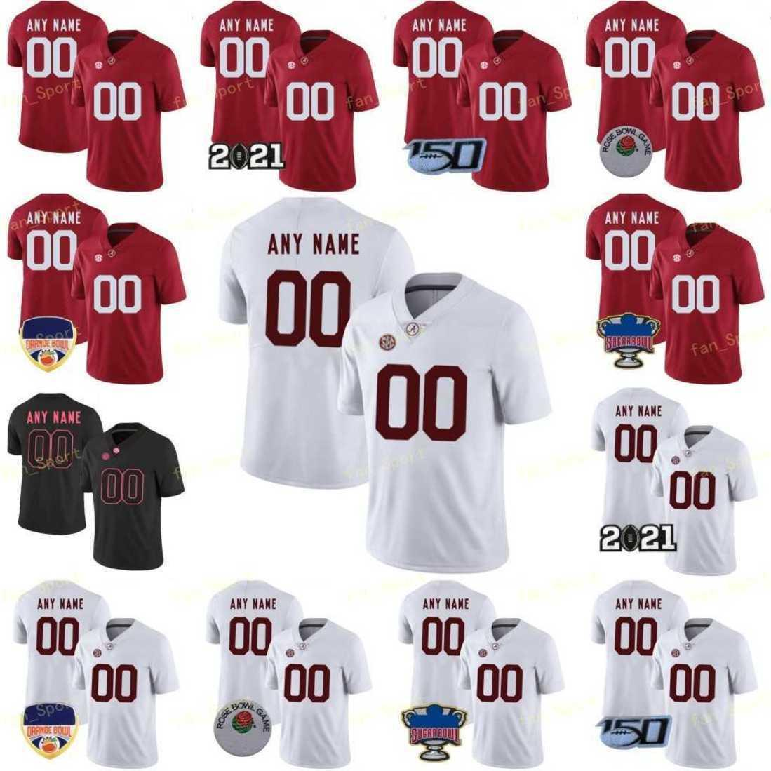 Custom NCAA College Alabama Football Jersey 9 Bryce Young 6 Trey Sanders 4 Brian Robinson Jr. 65 JC Latham 76 Brockermeyer 73 Evan Neal