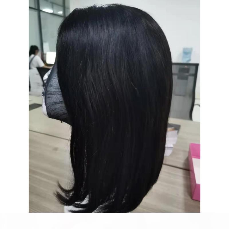 Peruanisches Reines Haar 4x4 Spitze Front Perücke Gerade Menschliches Haar 4 von 4 Spitze Vordere Bob Perücke Natürliche Farbe 8-18 Zoll