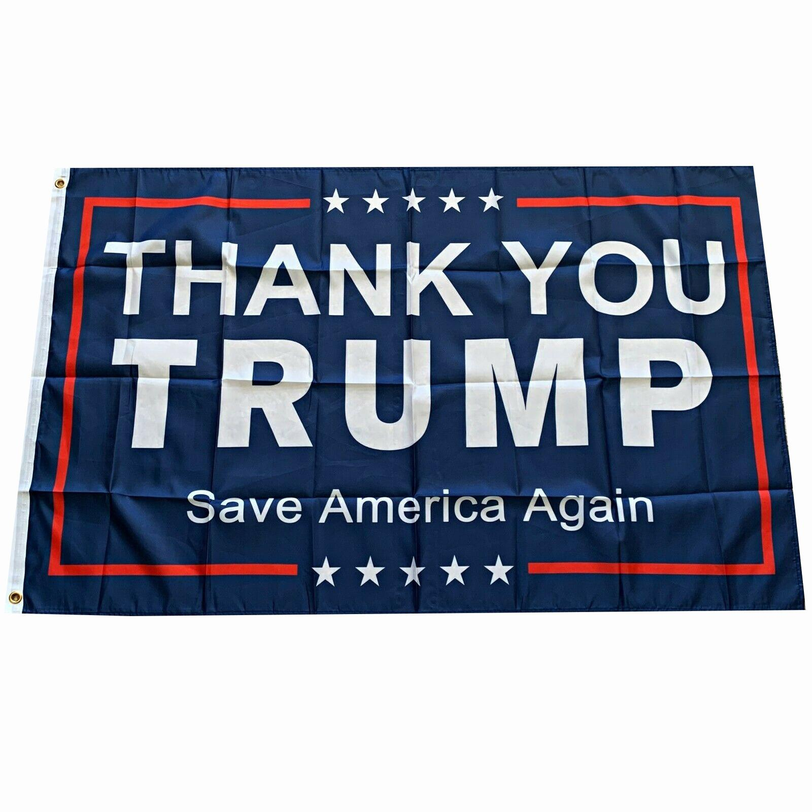 La más nueva bandera de la bandera de Trump 2024 bandera de la bandera de la elección Donald Trump Flag Guarde America de nuevo 150 * 90 cm Gracias, Trump Flags Sea Shipping ZC087