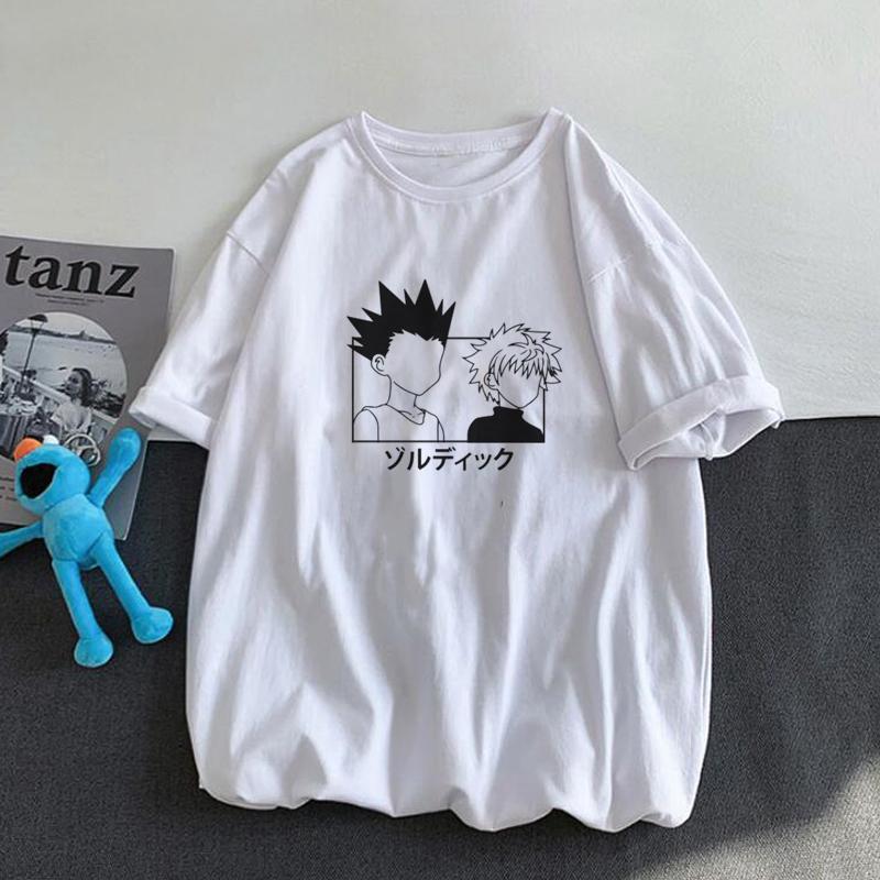 JanPanese Anime X T Shirt Men Cotone Estate grafica Tees Unisex Killua Zoldyck Gon T-shirt stampata T-shirt estiva