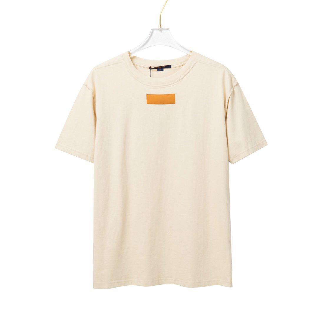 2021 Fransa Avrupa En son moda basit mektup baskı ince tüm maç kadın t-shirt rahat karışık pamuk minimalist erkek beyaz tee