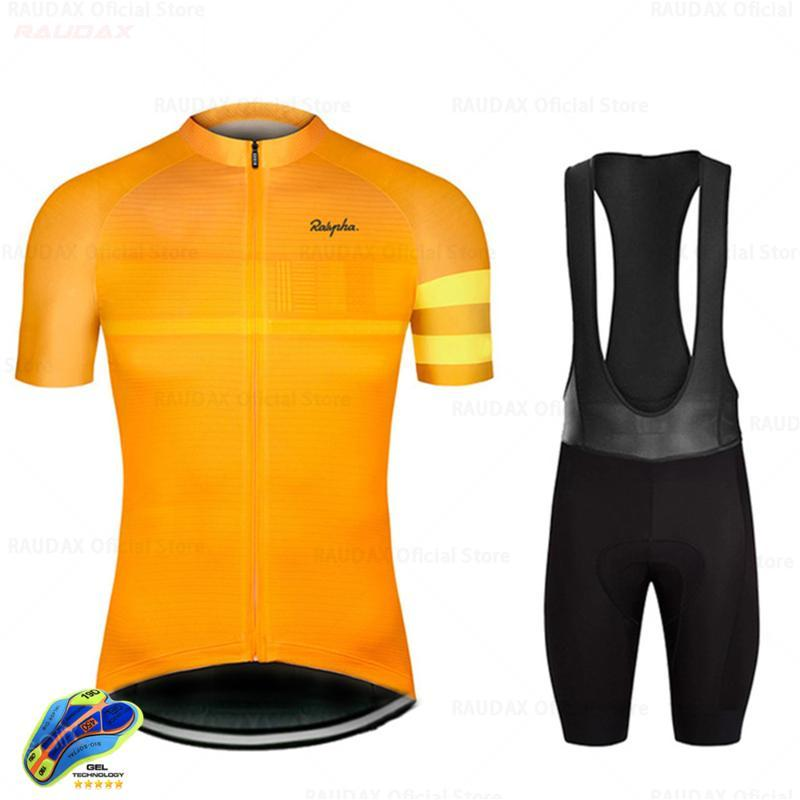 2021 Raudax Kısa Kollu Bisiklet Takım Elbise Erkek Nefes Voleybol Spor MTB Ropa Ciclismo Triatlon Bisiklet Takım Elbise Fabrika