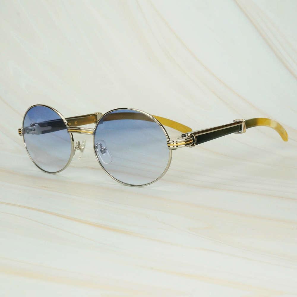 Computer zurück männliche Büffelhorn-Sonnenbrille in der roten Mode ovalen Lesebrillen exklusive Luxus 21s-Töne für Deko Iebel Null21s