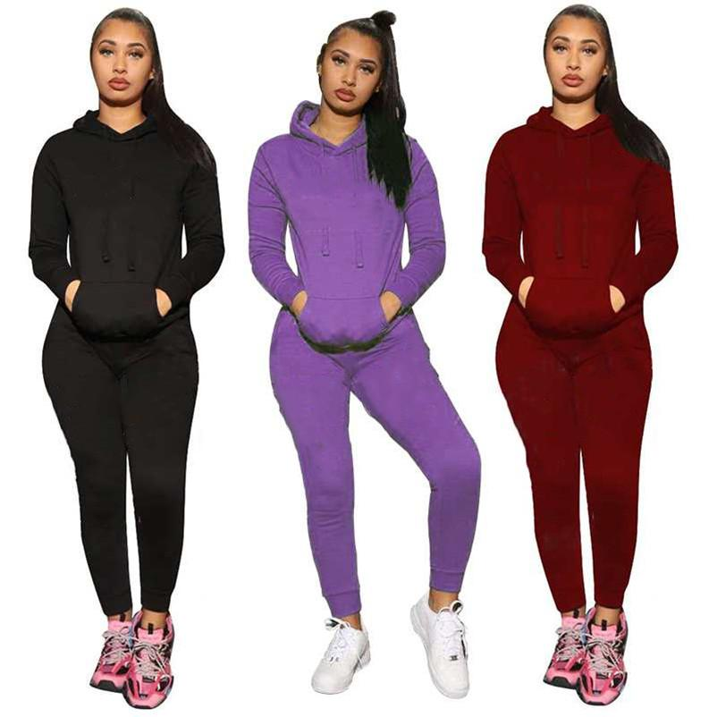Cotton jogger suit Women tracksuits Fall winter embroidery sweatsuits long sleeve outfits hooded hoodie+sweat pants two Piece Set Plus size 2XL Casual suits 5995