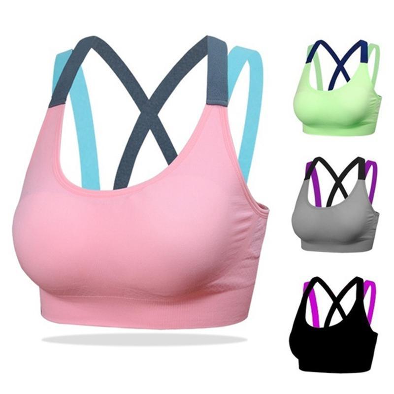 حمالات الصدر الرياضية للنساء اليوغا الصدرية امتصاص العرق صدمات مبطن الأعلى رياضة رياضية تشغيل اللياقة