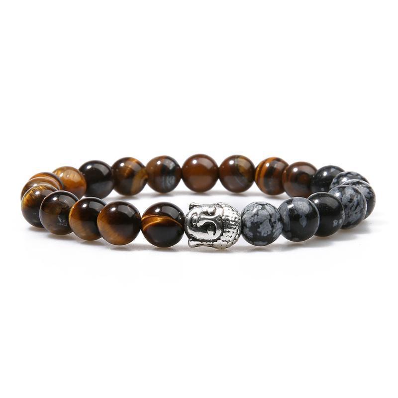 مطرز، فروع 7 شقرا بوذا فقدان الوزن الأساور للنساء الرجال الحجر الطبيعي الخرز مجوهرات الطاقة الإسورة اليوغا العلاج الصلاة