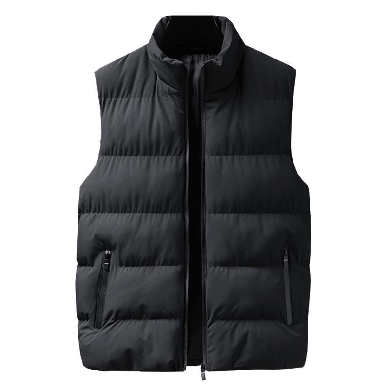 Chalecos para hombre primavera de otoño moda chaqueta para hombre chaleco sin mangas cubiertas casuales de algodón masculino hombres espesar chaleco de invierno