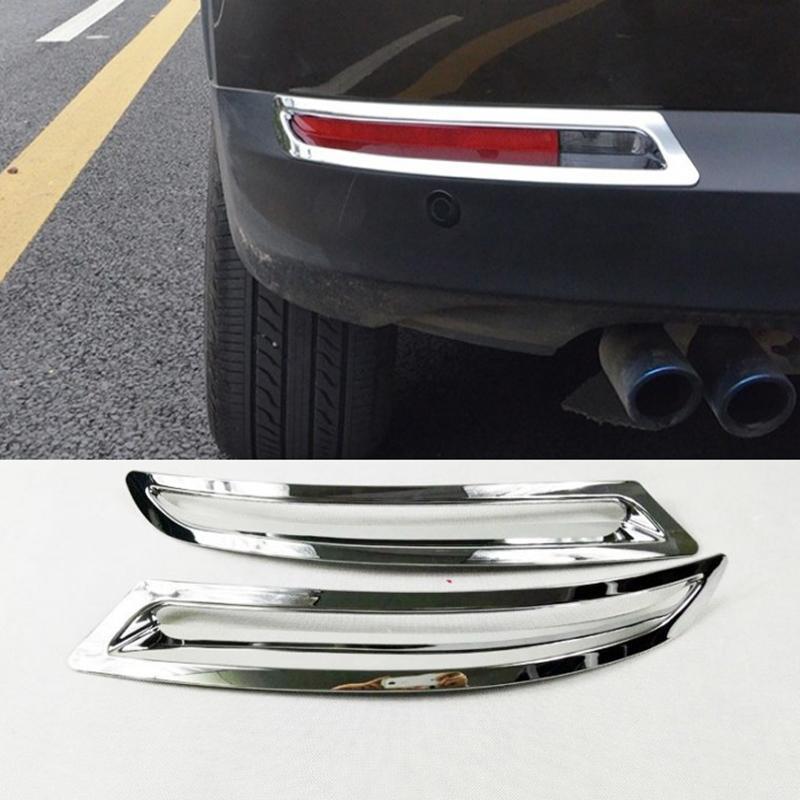 2 أجزاء abs كروم الضباب الخلفي ضوء الإطار الذيل مصباح غطاء ل VW Volkswagen Tiguan 2012 2012 2014 2014 2015