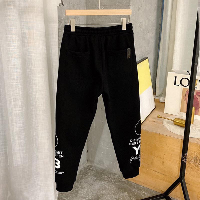 Nuovi pantaloni casual di stile Y3 in autunno e inverno di 2021 Brand di moda maschile Casual Versatile Trend Plush coreano e pantaloni a gambe addensati