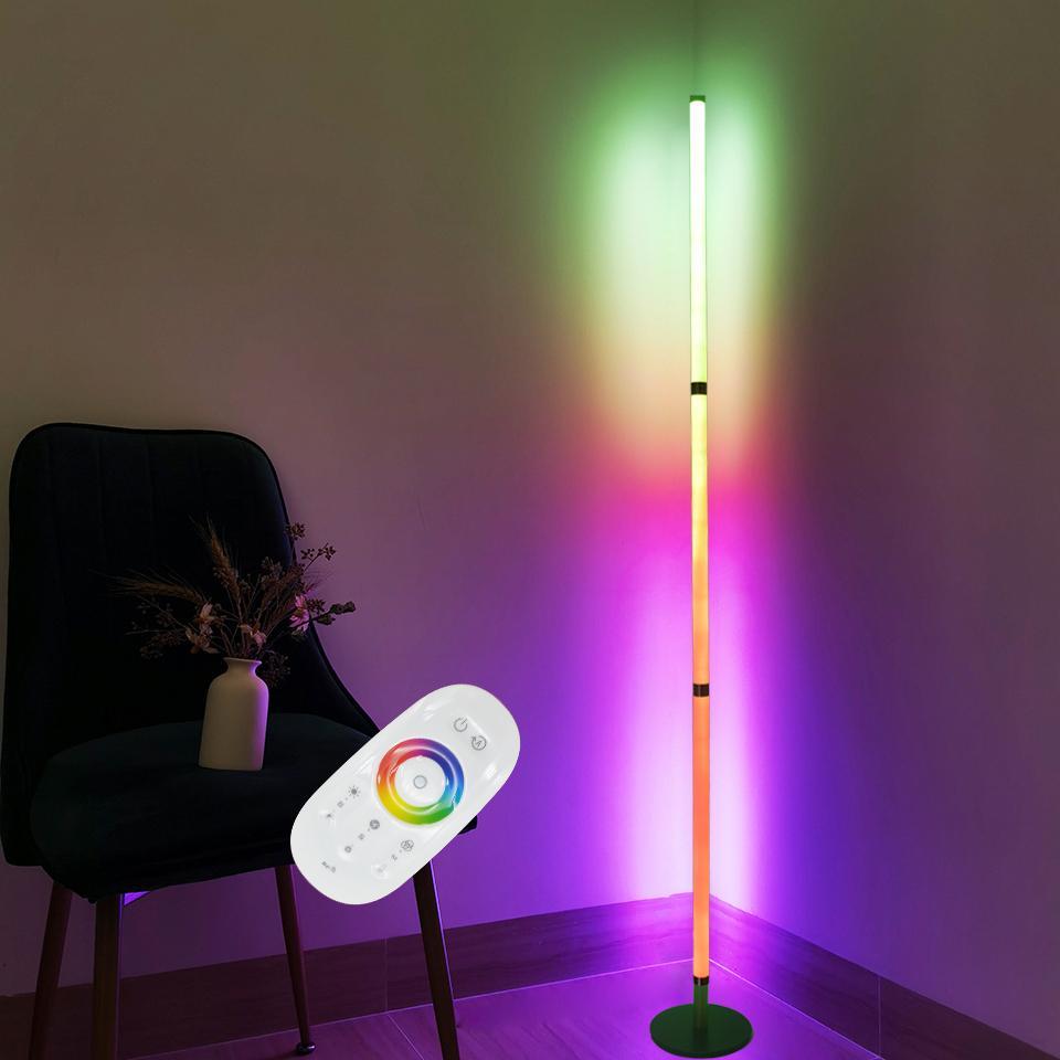 Lampe de sol moderne LED rgb lumières lumières colorées chambre salle à manger atmosphère éclairage 360 degrés club domestique décor intérieur la lumière debout