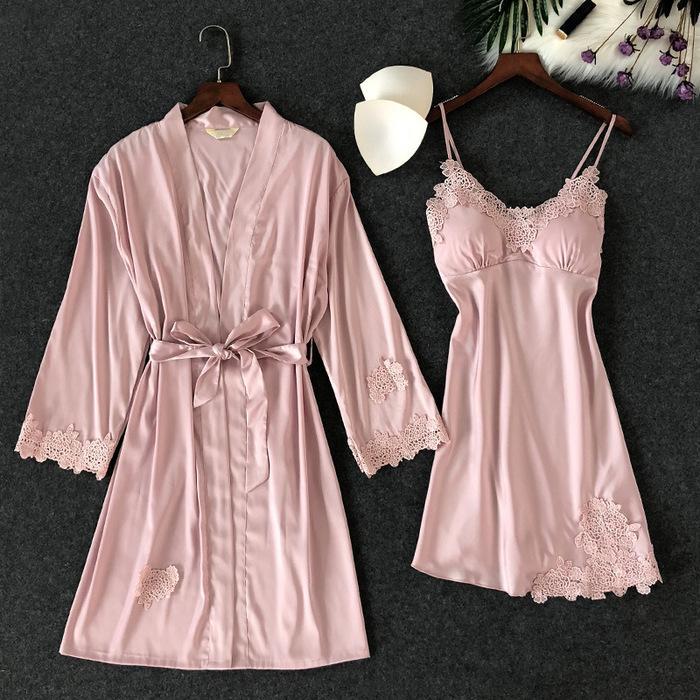 جديد الدانتيل انظر من خلال نوم ثياب النوم مجموعات الملابس الداخلية الملابس الداخلية مجموعات النوم رداء جديد