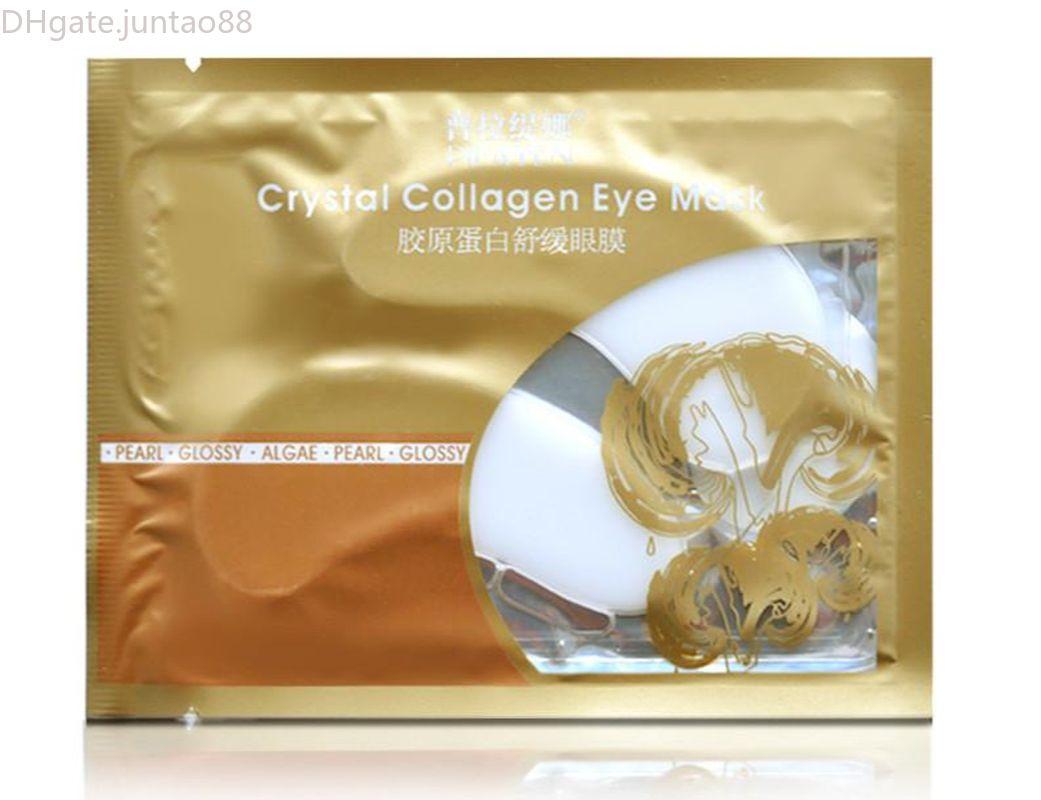 2000Pairs Pilaten Crystal Collagen Donne Maschera per gli occhi Collagene Gel proteina per la cura del viso Sleep Patch Macka Aquagel DHL Freeship