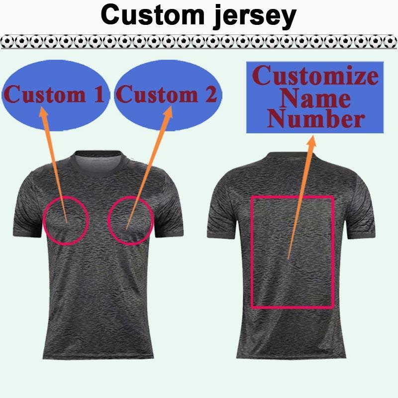 Custom National Team Club Hommes Soccer Jersey Top Vous pouvez personnaliser les chemises de football design et le numéro tel que 15 Haikou