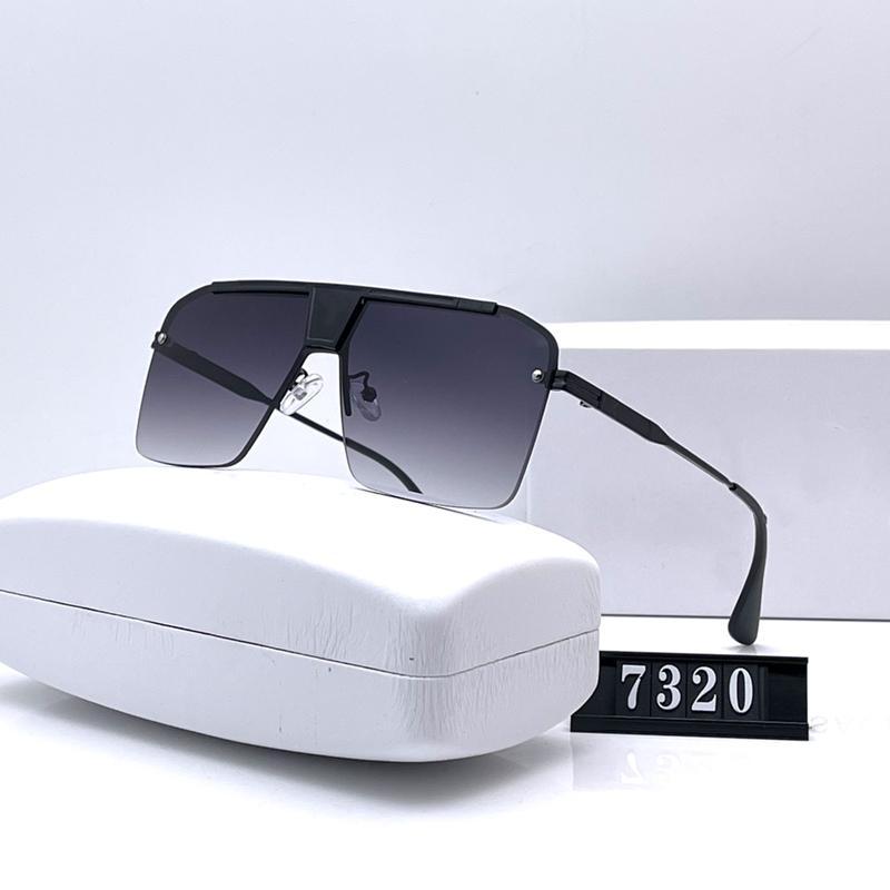 سبعة ألوان العصرية نصف إطار نظارات للرجال النساء جودة عالية hd الاستقطاب عدسات الأزياء عارضة القيادة نظارات مع حزمة 7320
