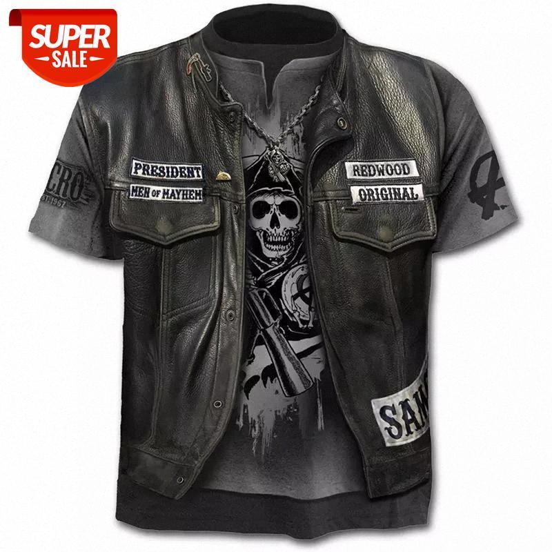 Créateur de luxe Nouvelle fausse veste imprimée T-shirt imprimé drôle Skull 3D T-shirt d'été Mode à manches courtes mâle / femme à manches courtes à manches courtes à manches courtes