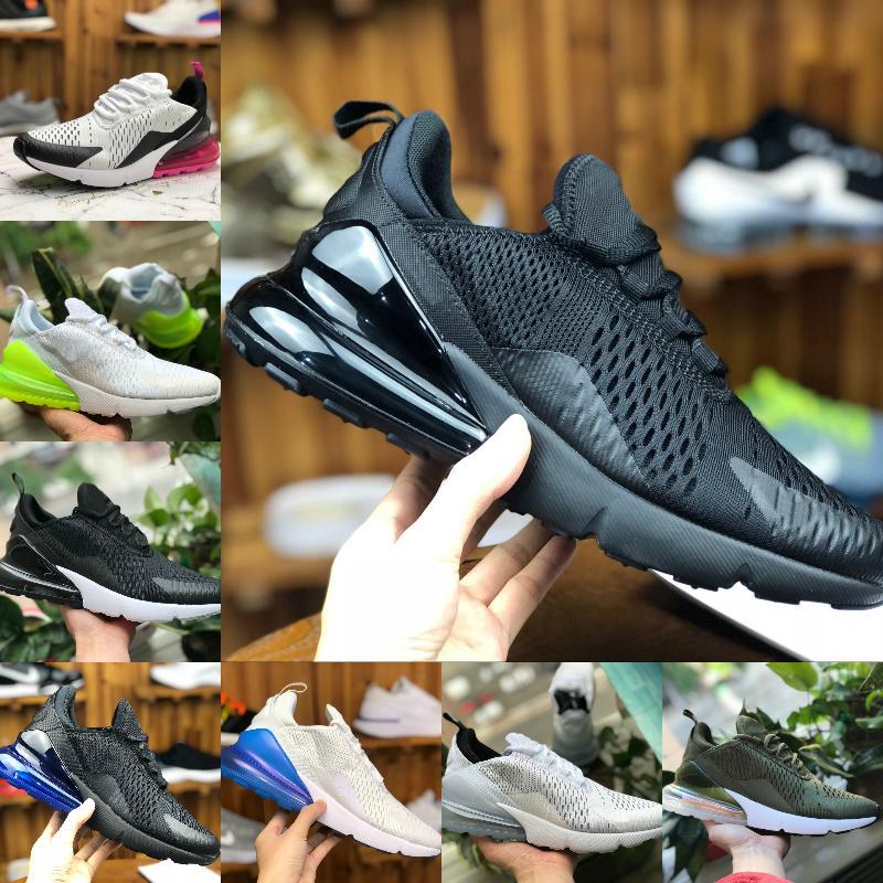 Nike Air Max 270 shoes New airmax Vapormax 270 27c gezüchtet platin farbe männer frauen jogging schuhe leichte knochen hot punch schwarz total orange tee berry sport