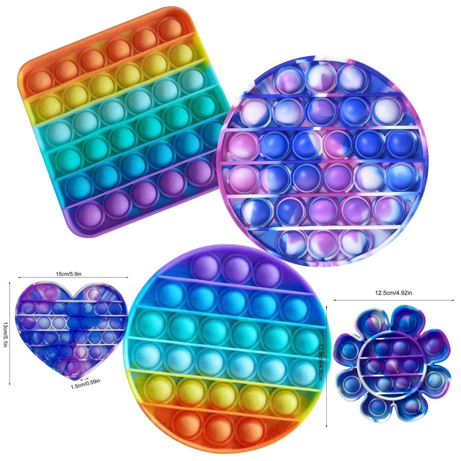 Флуоресцентный толчок пузырьки Fidget игрушки IT AUTISM Особый нужд Стресс Reverever помогает снять стресс Увеличение фокусировки Мягкие сжатия игрушки DHL DHL