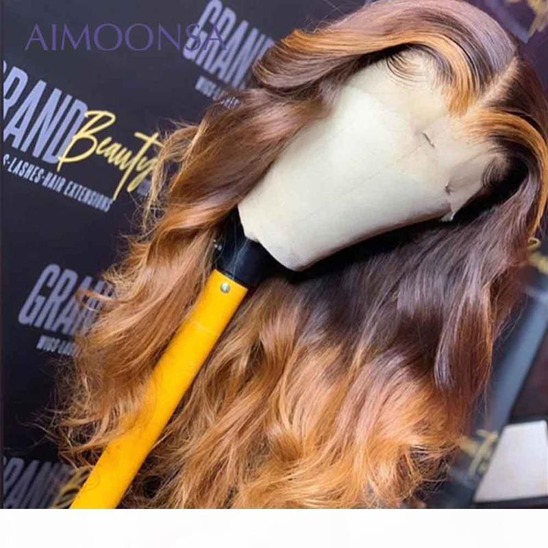 Медовая блондинка кружева фронт парики тела волна тела человеческие волосы парики Remy 360 полное кружевное парик человеческие волосы 360 фронтальный парик 150%