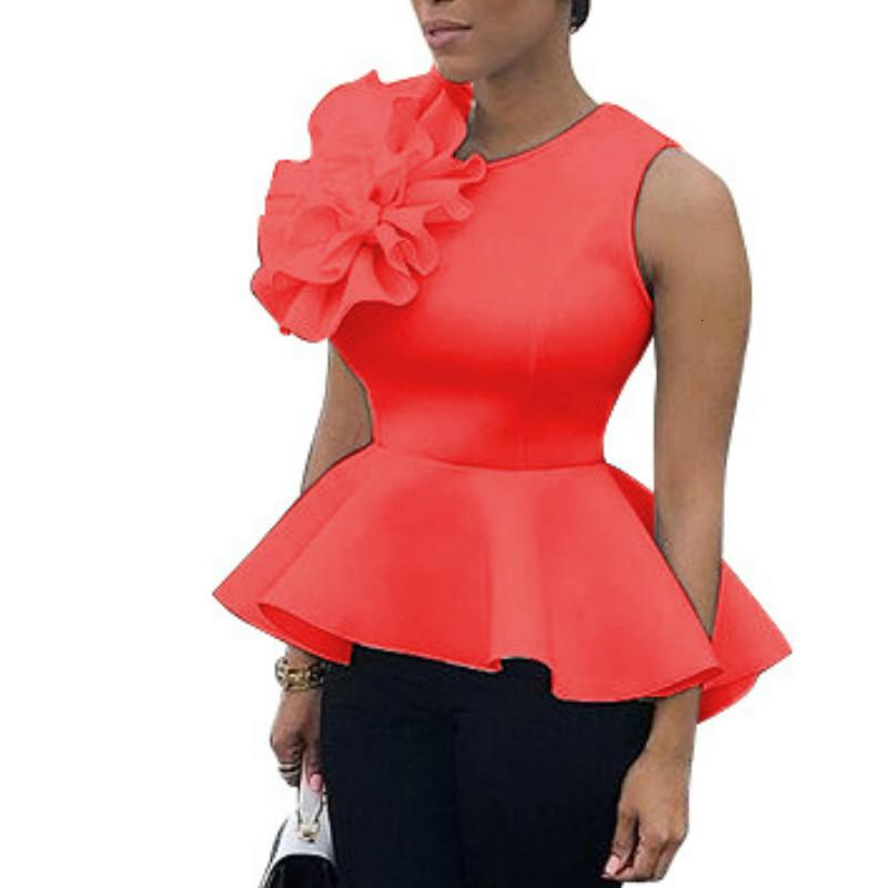 2021 New Women Women Summer Blusa Camisa sin mangas sin mangas Peplum Amarillo Blanco Negro Elegante Modest Modest Modest Officewear Classy Female Ropa de Primavera MX