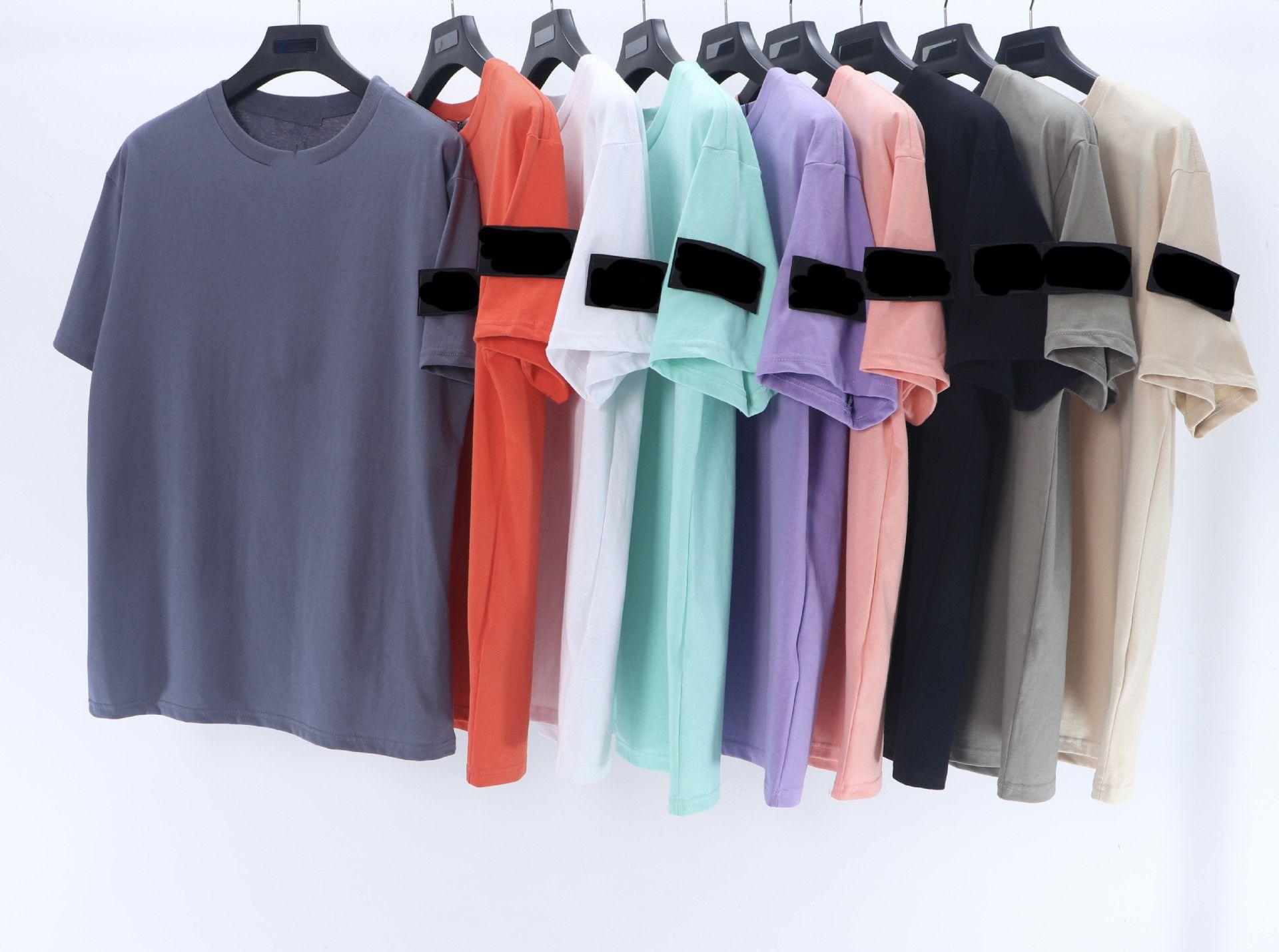 Mens Summer Badge T-shirt Marée Célèbre Designer Impression à manches courtes Brodée Noir Blanc Top Neuf Styles Lâche Male et Femme Vêtements