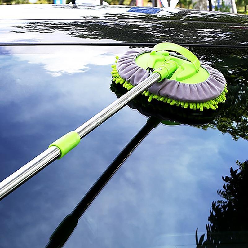 2 IN1 Ajustable Soft Car Soft Custate MOP para lavar su camión de automóvil Accesorios de mantenimiento del cuidado de RV
