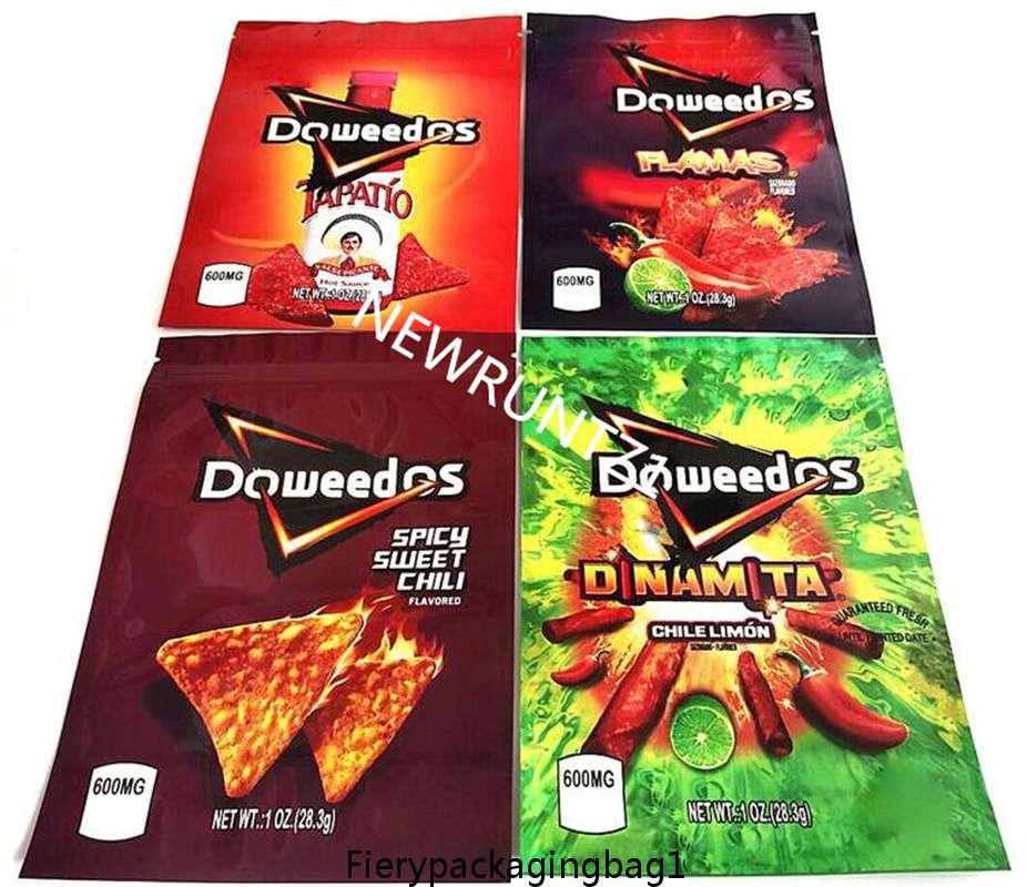 Doweedos 2021 Ambalaj Çantası 600 mg Baribo Lezzet Çanta Gummy Şeker Ekşi Sıfırlanabilir Yerler Ot Çiçek Fermuar Kuru Perakende EDI