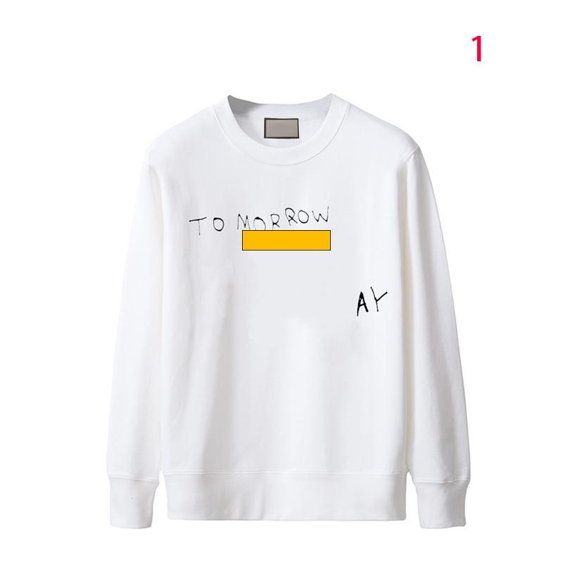 Casais vestido mens moda casual hoodies colóforos pescoço de manga comprida letra impresso solto moletom vários estilos e cores amantes desgaste