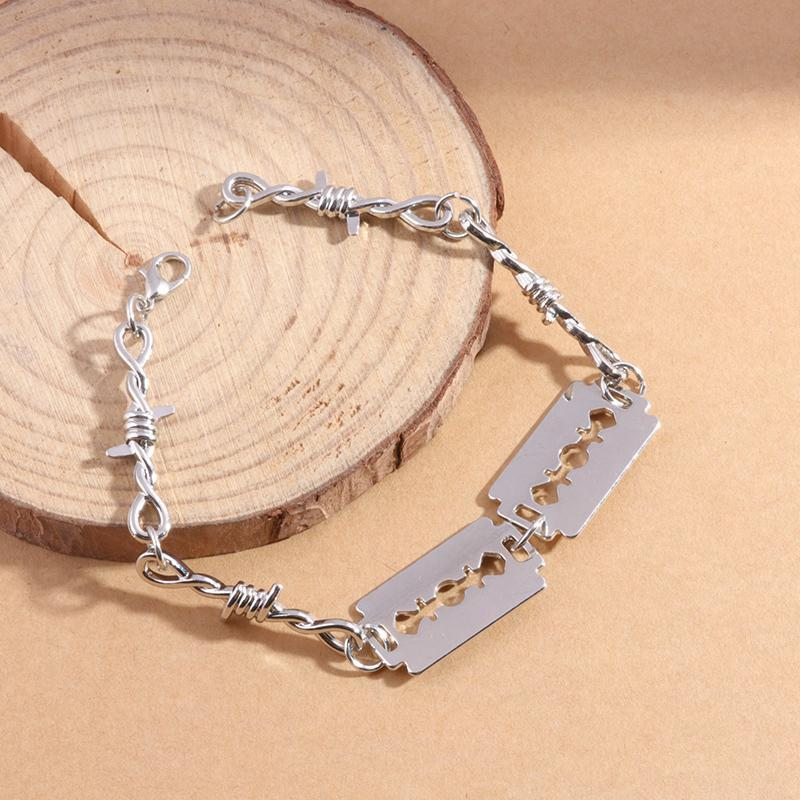 2021 Wire Bramble Bracelet Women Hip-hop Punk Style Barbed Link Chain Choker Gifts for Friends Collares de Moda