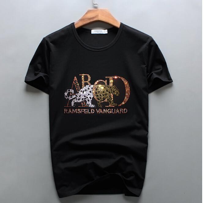 2021 Nuevas camisetas para hombre camiseta Hip Hop T-shirt Streetwear Fashion Tees Tops Casual Hot Hot Male Diamond Design NZU9