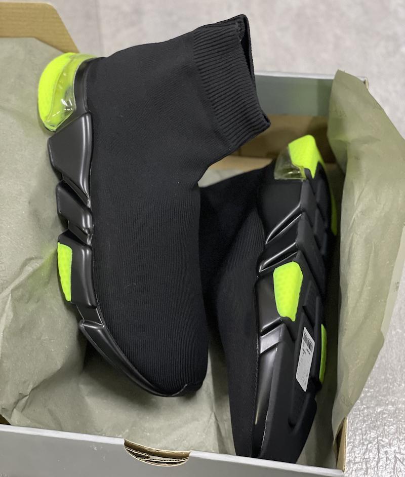 Tasarımcı Çorap Sneakers Erkek Kadın Streç Örgü Orta Sneakers Eğitmen Runner Ayakkabı Hafif Rahat Spor ayakkabı kutusu ile