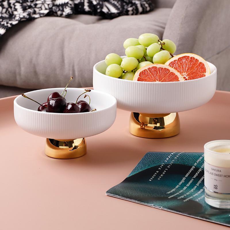 Керамическая фруктовая тарелка десерт для хранения стойки для хранения поднос для закусок контейнер кухонные ужин столовые посуды