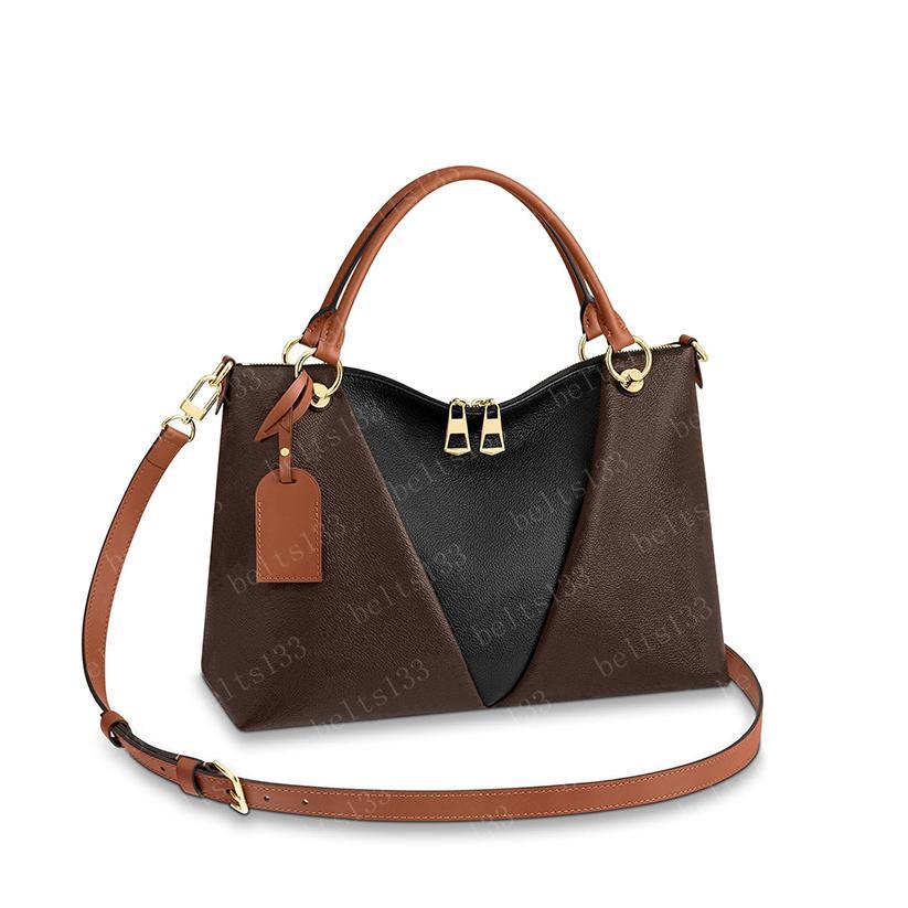 핸드백 Tote Wonen 큰 토트 핸드백 배낭 여성 크로스 바디 가방 지갑 갈색 가죽 어깨 가방 클러치 패션 지갑 43948 mm / bb cp01 36 / 27 / 16cm