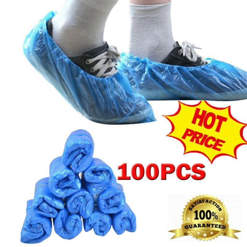 Blue -100 Pack 50 Paare Einweg-Schuhstiefelabdeckungen 5N3V