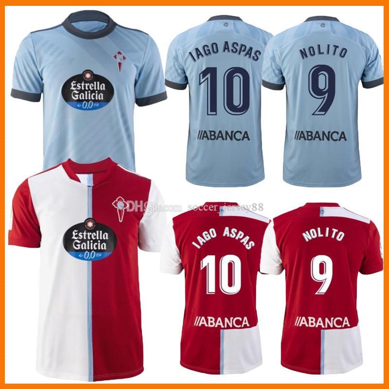 21 22 Celta de Vigo Fussball Trikots Iago Aspas 2021 2022 Away Camiseta Fútbol Nolito F.Beltran Hugo Malllo Solari S. Mina Brais Méndez Home Männer Jersey Football Hemd