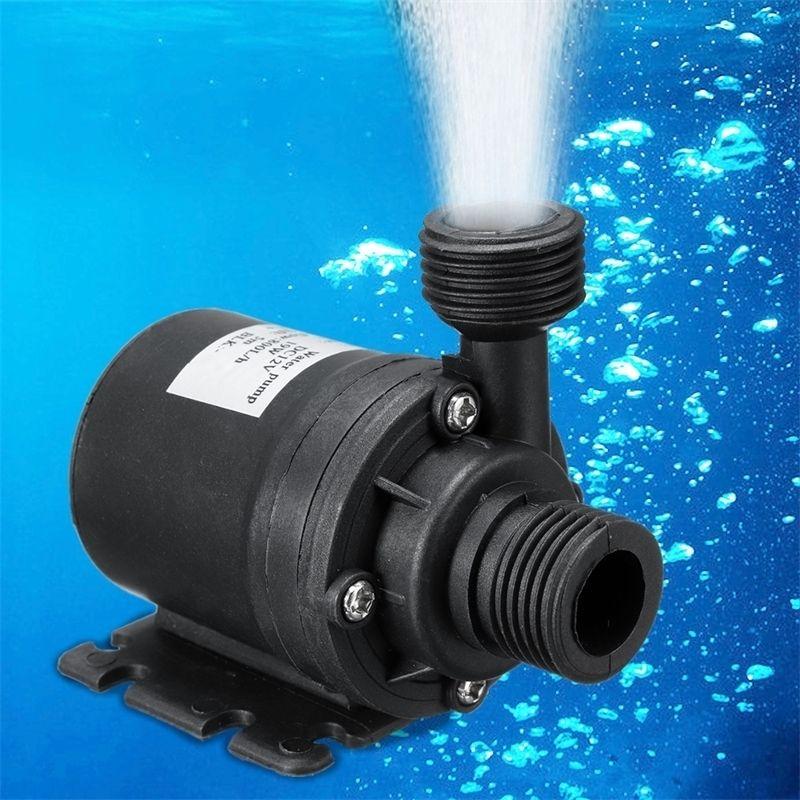 Ультра Тихий мини DC 12V водяной насос подъемник 5M 800L / H бесщеточный моторный погружной водяной насос аквариумные рыбы танк садовые инструменты Y200917