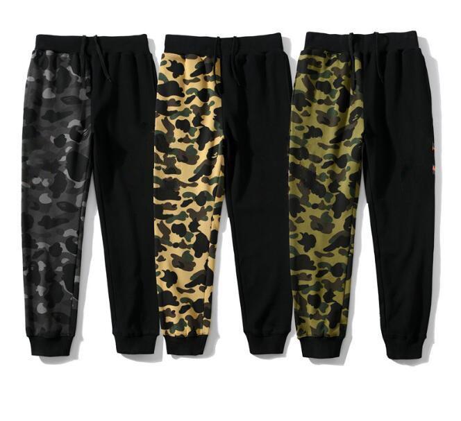 Kamuflaj Erkek Pantolon Camo Spor Pantolon Bahar Sonbahar Kış Tasarımcısı Hafif Jogger Gevşek Eşofmantaları Hip Hop Erkekler Jumpers Streetwear JK013